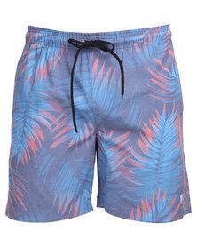 Quiksilver Deep Jungle 17 inch Boardies Blue