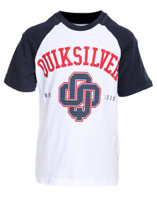 Quiksilver Almost There Tee White & Navy