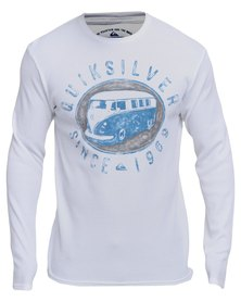 Quiksilver Right Stuff  Long Sleeve T-Shirt White