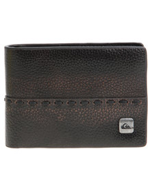 Quiksilver Locked Up Leather Wallet Brown
