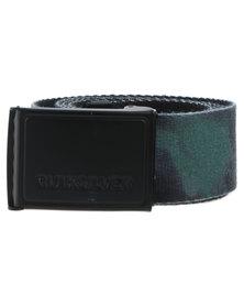 Quiksilver Options Camo Webbing Belt Khaki