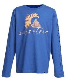 Quiksilver Boys Cold December T-Shirt Blue