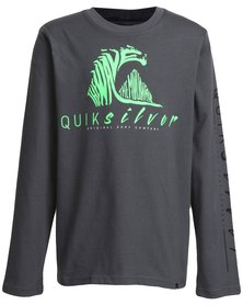 Quiksilver Boys Cold December T-Shirt Grey