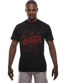 Quiksilver Belter Short Sleeve T-Shirt Black