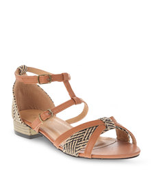 Rage Strappy Flats Tan