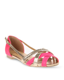 Rage Woven Flats Pink
