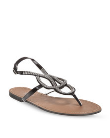 Rage Diamante Sandals Black