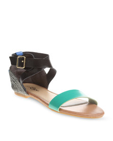 Rage Criss-Cross Sandals Teal