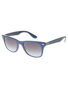 Ray-Ban Wayfarer Liteforce Blue Frame Gradient Lens Sunglasses