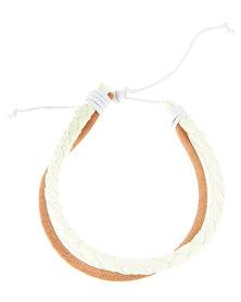 Rebel Road Multi Wrap Leather Bracelet Neutral