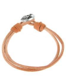 Rebel Road Double Wrap Leather Bracelet Brown