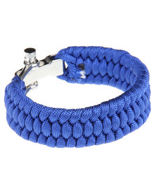 Rebel Road Survival Cord Bracelet Blue