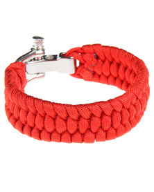 Rebel Road Survival Cord Bracelet Red