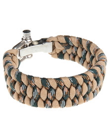 Rebel Road Survival Cord Bracelet Camo