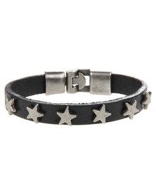 Rebel Road Star Bracelet Black