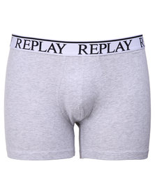 Replay Elastic Cotton Brief Grey