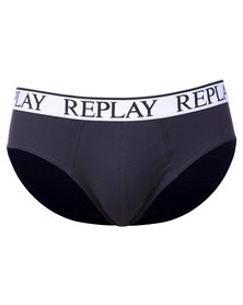 Replay Elastic Cotton Trunks Blue