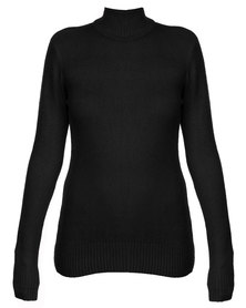 Revenge Polo Neck Jersey Black