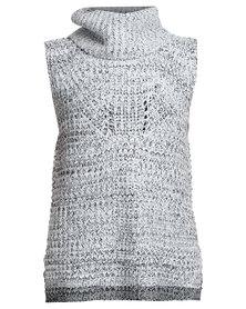 Revenge Sleeveless Roll Neck Knitwear Multi