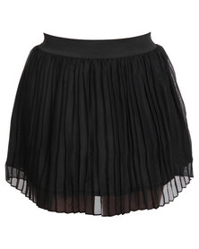 Revenge Lined Mini Skirt Black