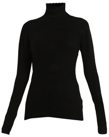 Revenge Poloneck Sweater Black