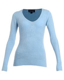 Revenge V-Neck Sweater Blue