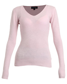 Revenge V-Neck Sweater Pink Buy 2 sweaters for R799