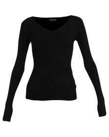 Revenge V-Neck Sweater Black