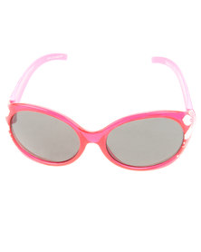 Revex Wrap Sunglasses with Flowers Pink
