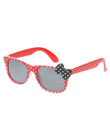 Revex Polka Dot Sunglasses Red