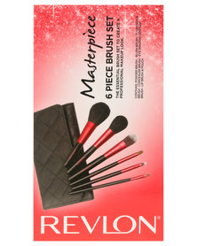 Revlon Cosmetic Brush Kit Black and Red