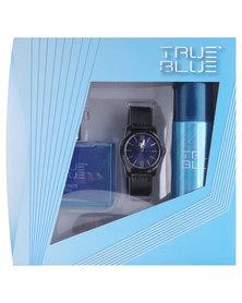 Revlon True Blue 100ml EDT Spray, 120ml Deodorant Spray & Watch