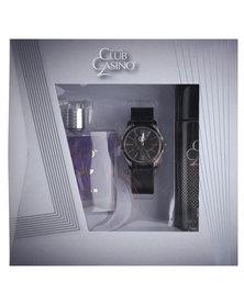Revlon Club Casino 100ml EDT Spray, 120ml Deodorant Spray & Watch