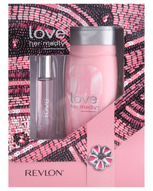 Revlon Love Her Madly 17ml Spray Wand  & 250ml Perfumed Body Lotion Gift Set