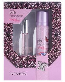 Revlon Pink Happiness Playful Wishes 17ml EDT Spray & 90ml Perfumed Body Spray Gift Set
