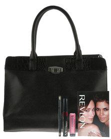 Revlon Classic Black Handbag