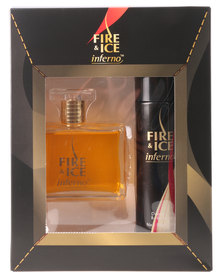 Revlon Fire & Ice Inferno Gift Pack 100ml Cologne & 120ml Deo Spray