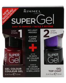 Rimmel SuperGel Nail Polish Duo 043 & Top Coat Purple