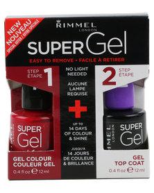 Rimmel SuperGel Nail Polish Duo 042 & Top Coat Red