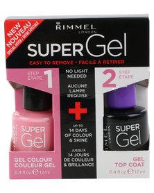 Rimmel SuperGel Nail Polish Duo 022 & Top Coat Pink