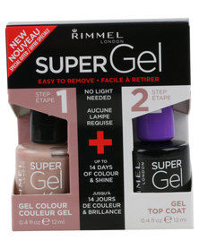 Rimmel SuperGel Nail Polish Duo 012 & Top Coat Nude