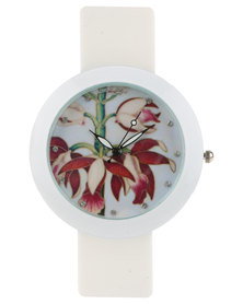 Rings & Things Floral Watch White