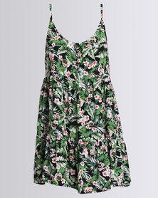 Rip Curl Hibiscus Beach Dress Green