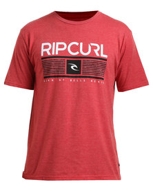Rip Curl Tops Tee Red