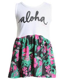 Rip Curl Aloha Babe Dress Floral/White