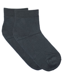 Robert Daniel Plain Bamboo Socks Grey