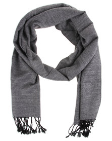 Robert Daniel Cashmere Feel Plain Scarf Grey
