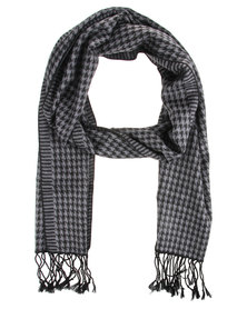 Robert Daniel Cashmere Feel Houndstooth Scarf Multi