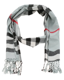 Robert Daniel Cashmere Feel Tartan Check Scarf Black