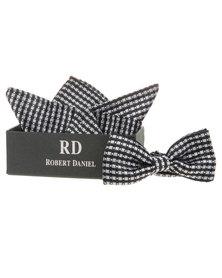 Robert Daniel Mono Bow Tie with Handkerchief Multi